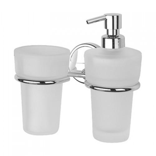 Держатель стакана и дозатора для жидкого мыла FBS Universal UNI 027