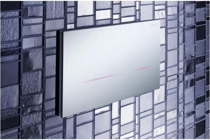 Клавиша Geberit Sigma 80 116.090.SM.1, бесконтактная, для двойного смыва, зеркальное стекло