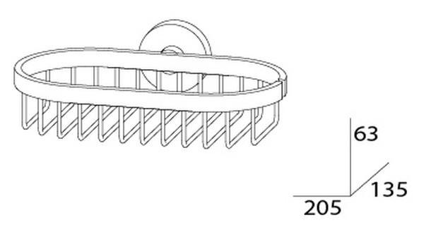 Полочка-решетка Artwelle Harmonie, арт. HAR 018, 21*13,5*6,3 см