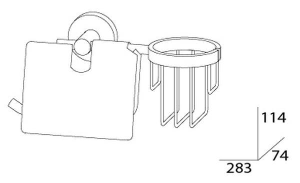Держатель для туалетной бумаги и освежителя Artwelle Harmonie HAR 051