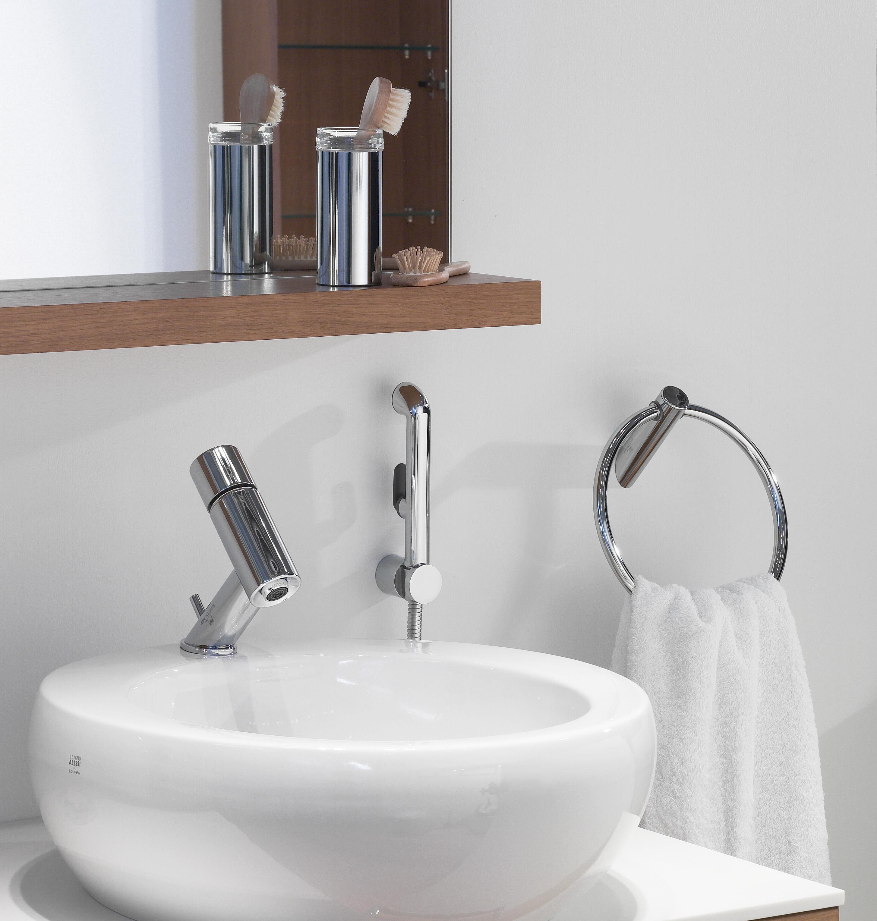 Смеситель Oras Alessi One 8502 для раковины с гигиеническим душем