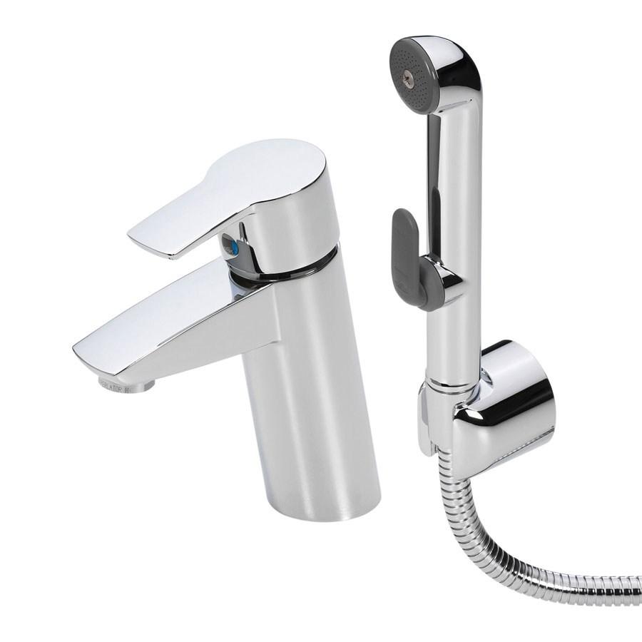 Смеситель Oras Cubista 2808 для раковины с гигиеническим душем