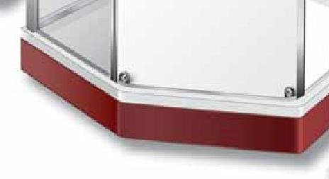 Фронтальная панель Ido Showerama 8-5 арт. 700312 для поддона красная, 100*100 см