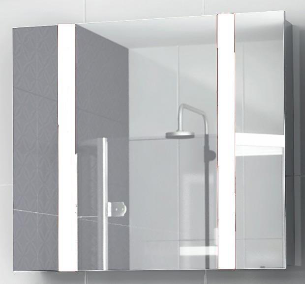 Зеркало-шкаф Edelform FRESH 80, белое, 75*15,4*h66 см