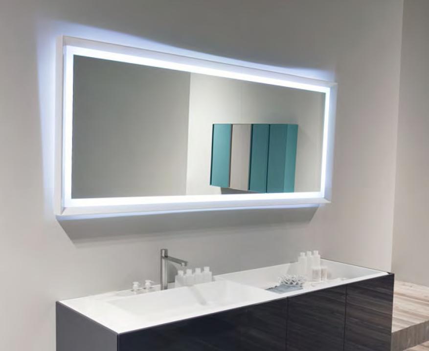 Зеркало Antonio Lupi SFOGLIA75L LED H75*L144, глянцево-белый, светодиодная подсветка
