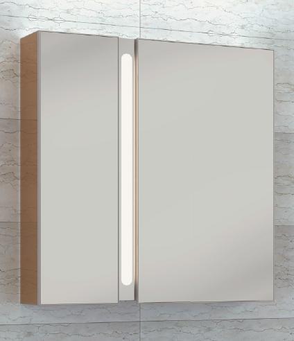 Зеркальный шкаф Wenz LED TWINWALL 75, арт. Twinwall-03-075-R/L, 75*17*80 см (правый/левый)