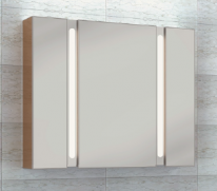 Зеркальный шкаф Wenz LED TWINWALL 105, арт. Twinwall-03-105, 105*17*80 см