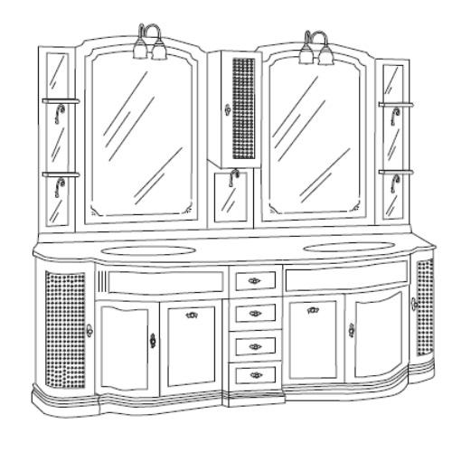 Комплект мебели Eurodesign IL Borgo Композиция № 19