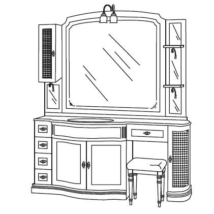 Комплект мебели Eurodesign IL Borgo Композиция № 20