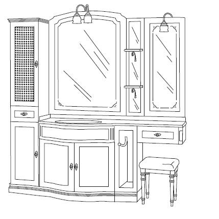Комплект мебели Eurodesign IL Borgo Композиция № 21