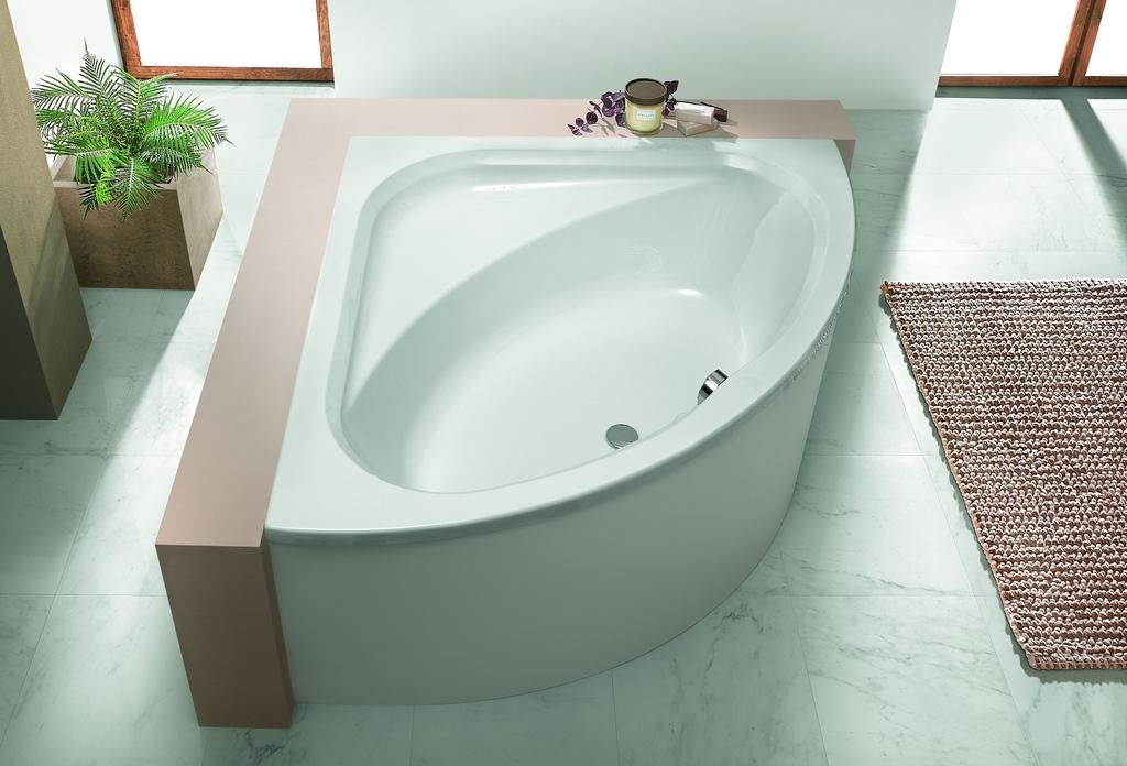 """Ванна угловая Hoesch PARANA """"C"""", арт. 5533.010, со съемной панелью, 142,5*142,5*62,5 см"""