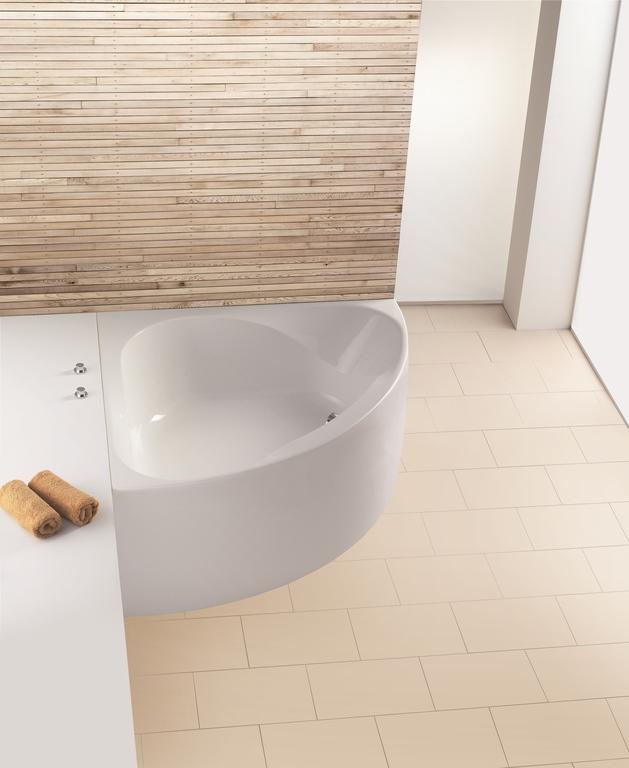 """Ванна угловая Hoesch SPECTRA """"В"""", арт. 3654.010, с несъемной панелью, 140,8*140,8*67 см"""