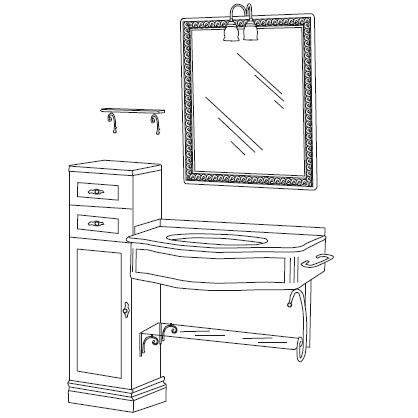 Комплект мебели Eurodesign IL Borgo Композиция № 22