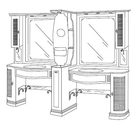 Комплект мебели Eurodesign IL Borgo Композиция № 23
