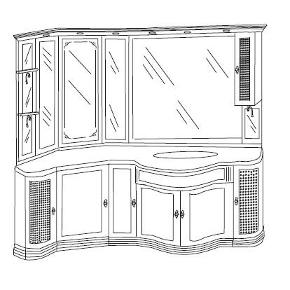 Комплект мебели Eurodesign IL Borgo Композиция № 24