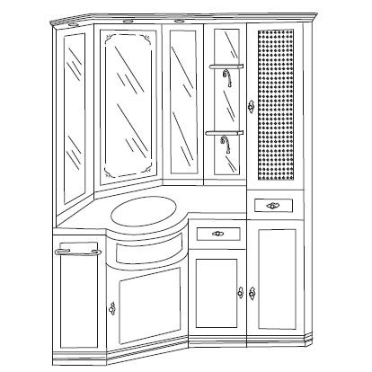 Комплект мебели Eurodesign IL Borgo Композиция № 26