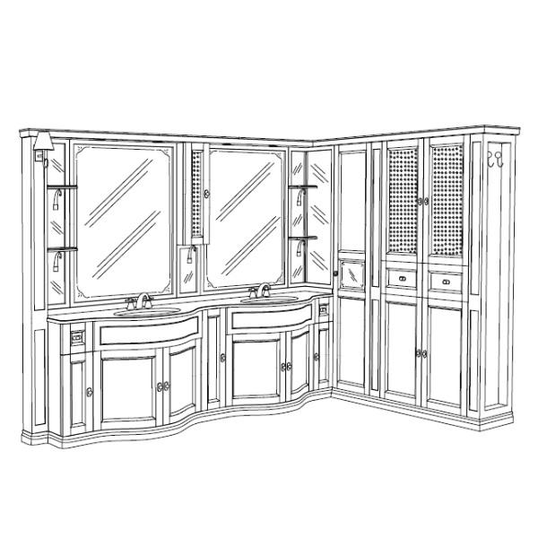 Комплект мебели Eurodesign IL Borgo Композиция № 33