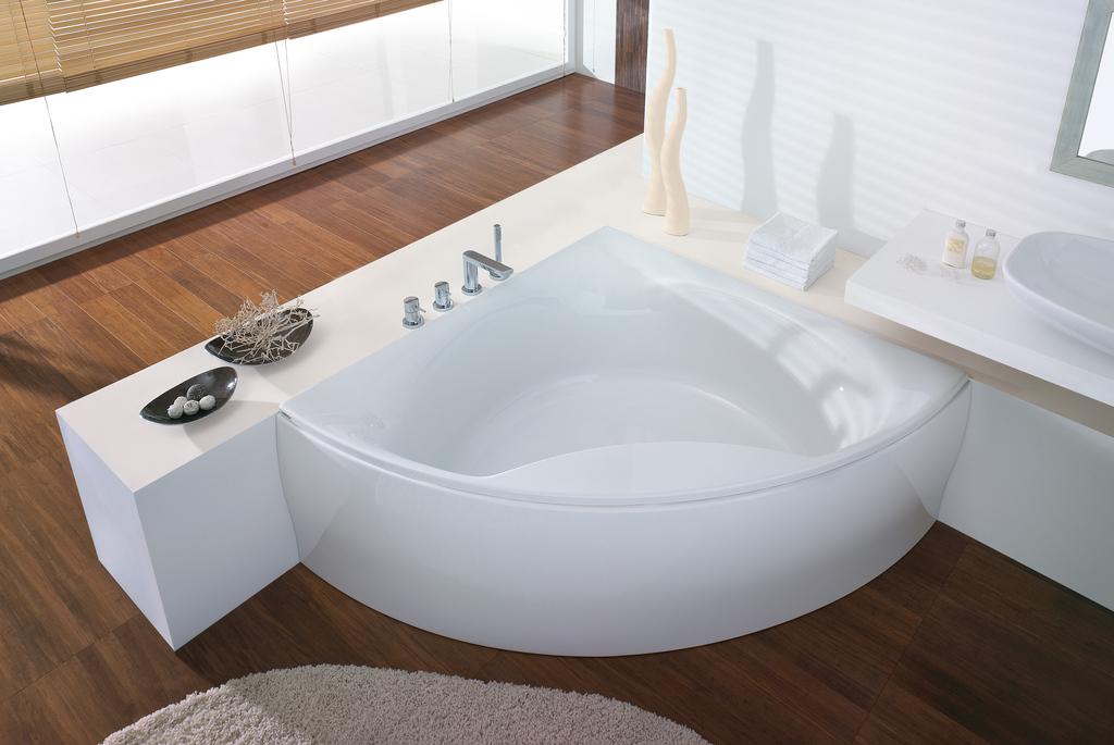 """Ванна угловая Hoesch SQUADRA """"С"""", арт. 6139.010, со съемной панелью, 152*152*63 см"""