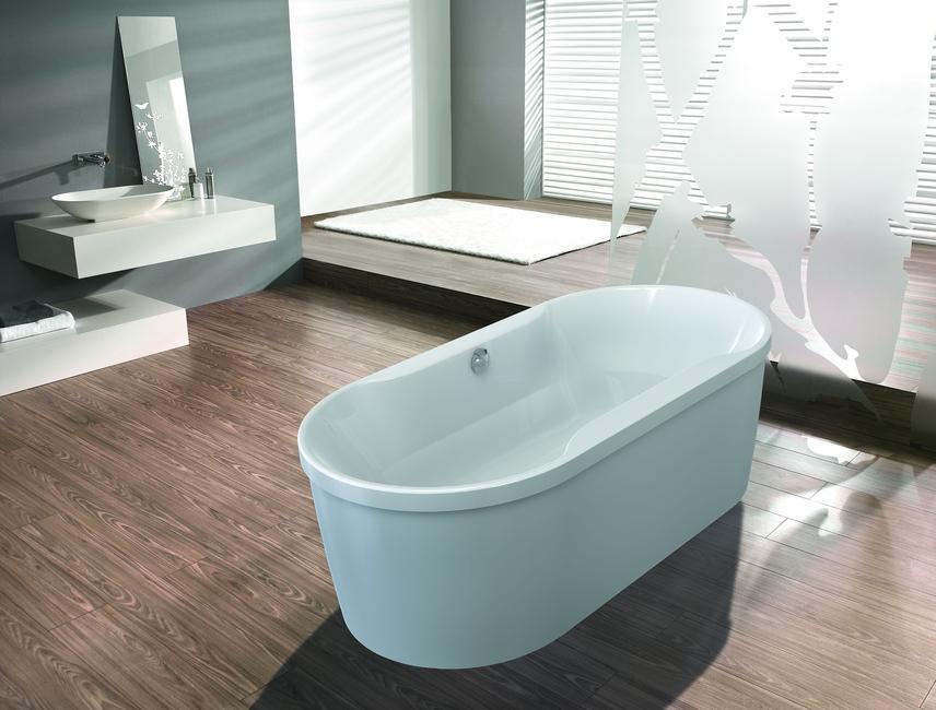 """Ванна отдельностоящая Hoesch SPECTRA """"D"""", арт. 6465.010 белая, 180*90*63,5 см"""