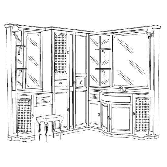 Комплект мебели Eurodesign IL Borgo Композиция № 34