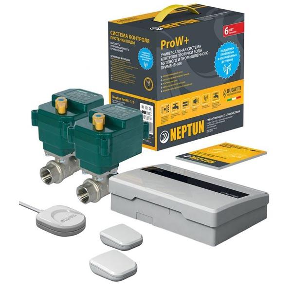 Система защиты от протечек Neptun ProW+ 3/4 43054104000008 с беспроводными датчиками