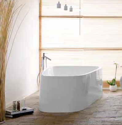 """Ванна отдельностоящая Hoesch SINGLEBATH DUO """"D"""", правая/левая, белая, 179,8*117,3*61 см"""