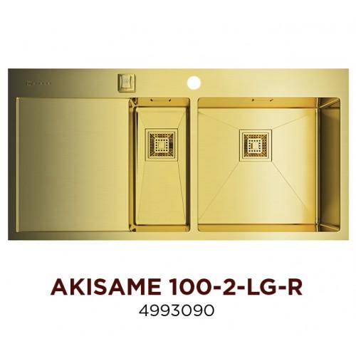 Мойка Omoikiri Akisame 100-2-LG-R, арт. 4993090