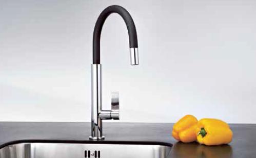 Смеситель Franke EVOS, для кухни, с выдвижным изливом, гранит/хром