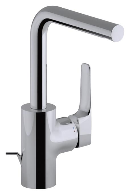 Смеситель Jacob Delafon ALEO+ E72357-CP для раковины с поворотным изливом с донным клапаном
