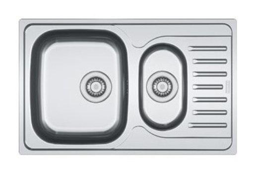 Мойка Franke POLAR PXN/PXL/PXT 651-78, установка сверху, оборачиваемая, нержавеющая сталь, матовая/декор/микродекор, 78*49 см
