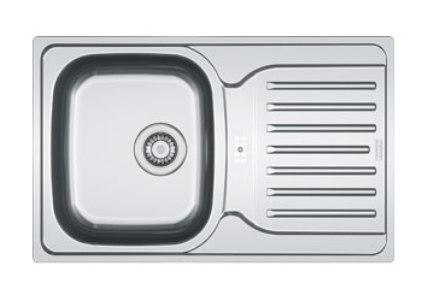 Мойка Franke POLAR PXN/PXL 614-78, установка сверху, оборачиваемая, нержавеющая сталь, матовая/декор, 78*49 см