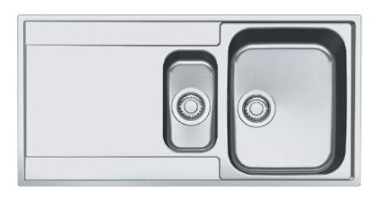 Мойка Franke MARIS MRX 251 G, арт. 127.0296.444, установка сверху, SlimTop, оборачиваемая, нержавеющая сталь, полированная, 100*51 см