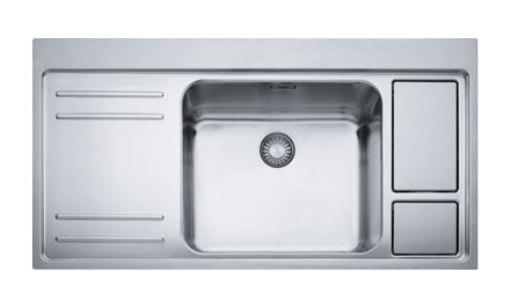 Мойка Franke LARGO WORK CENTER LAX 211-W-45, арт. 127.0299.850, установка сверху, SlimTop, нержавеющая сталь, полированная, 100*52 см