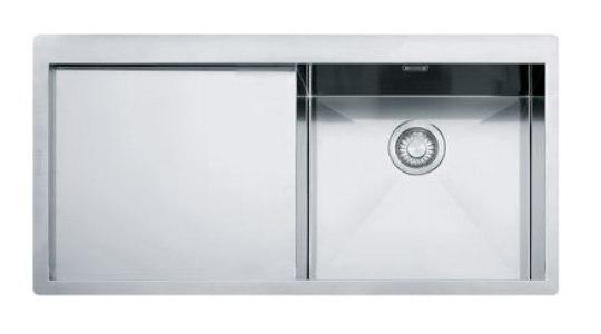 Мойка Franke PLANAR PPX 211 TL, установка сверху, SlimTop, правая/левая, нержавеющая сталь, полированная, 100*51,2 см