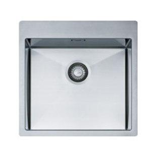 Мойка Franke PLANAR 8 PEX 210-51 TL, арт. 127.0203.475, установка сверху, SlimTop, нержавеющая сталь, полированная, 50,5*50,5 см