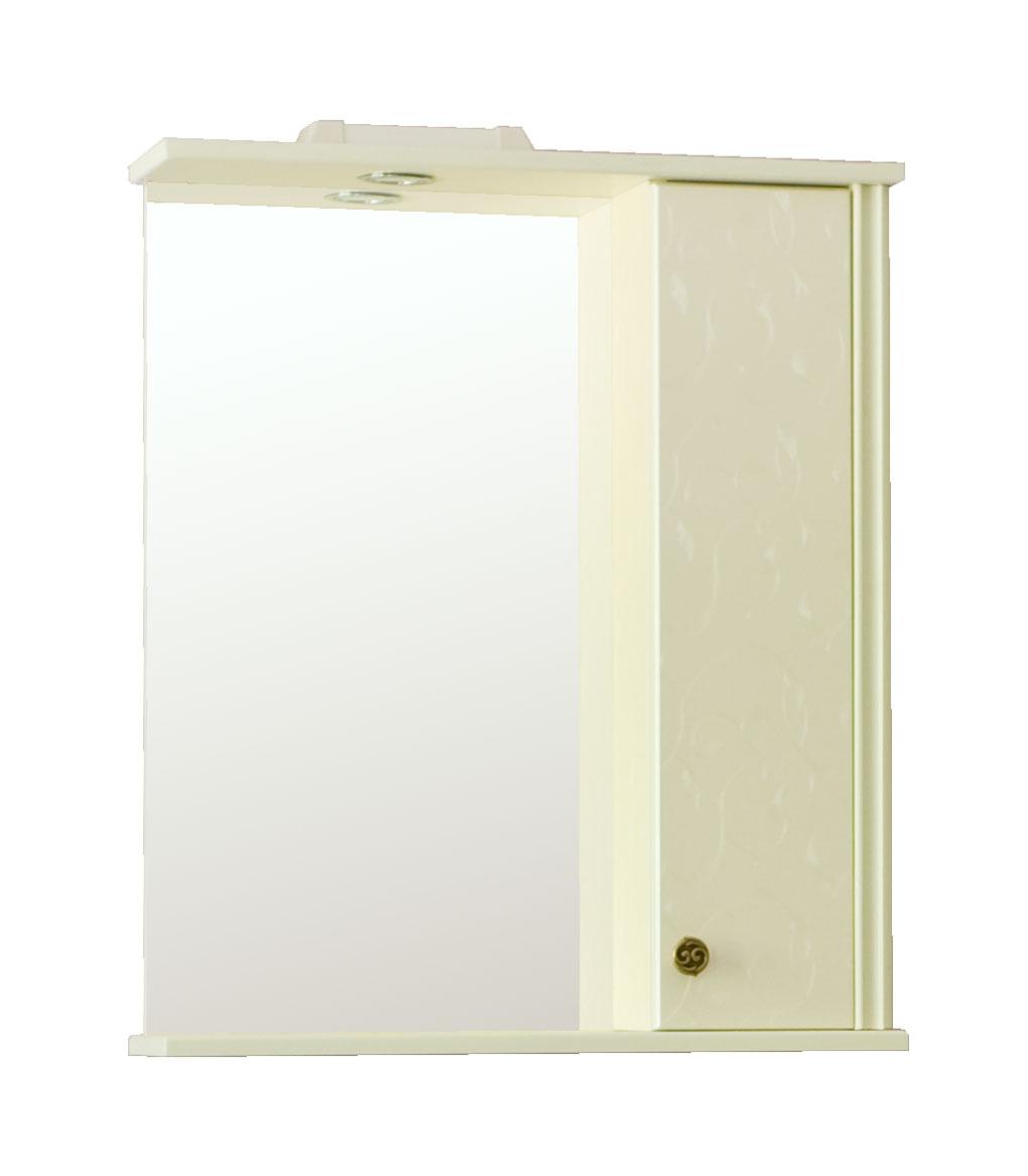 Зеркало Аллигатор АРНО 2-55R/L, с подсветкой и шкафчиком, 55*17*73,2 см