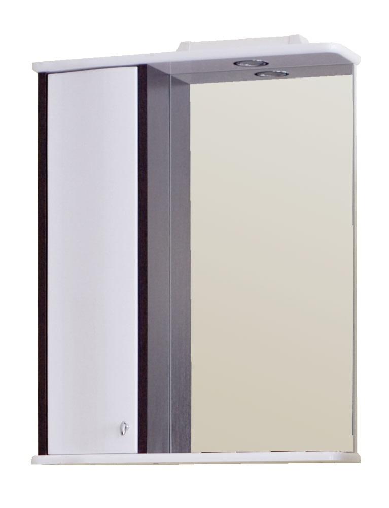 Зеркало Аллигатор ВОЯЖ 1-60R/L, с подсветкой и шкафчиком, 60*15*73,2 см