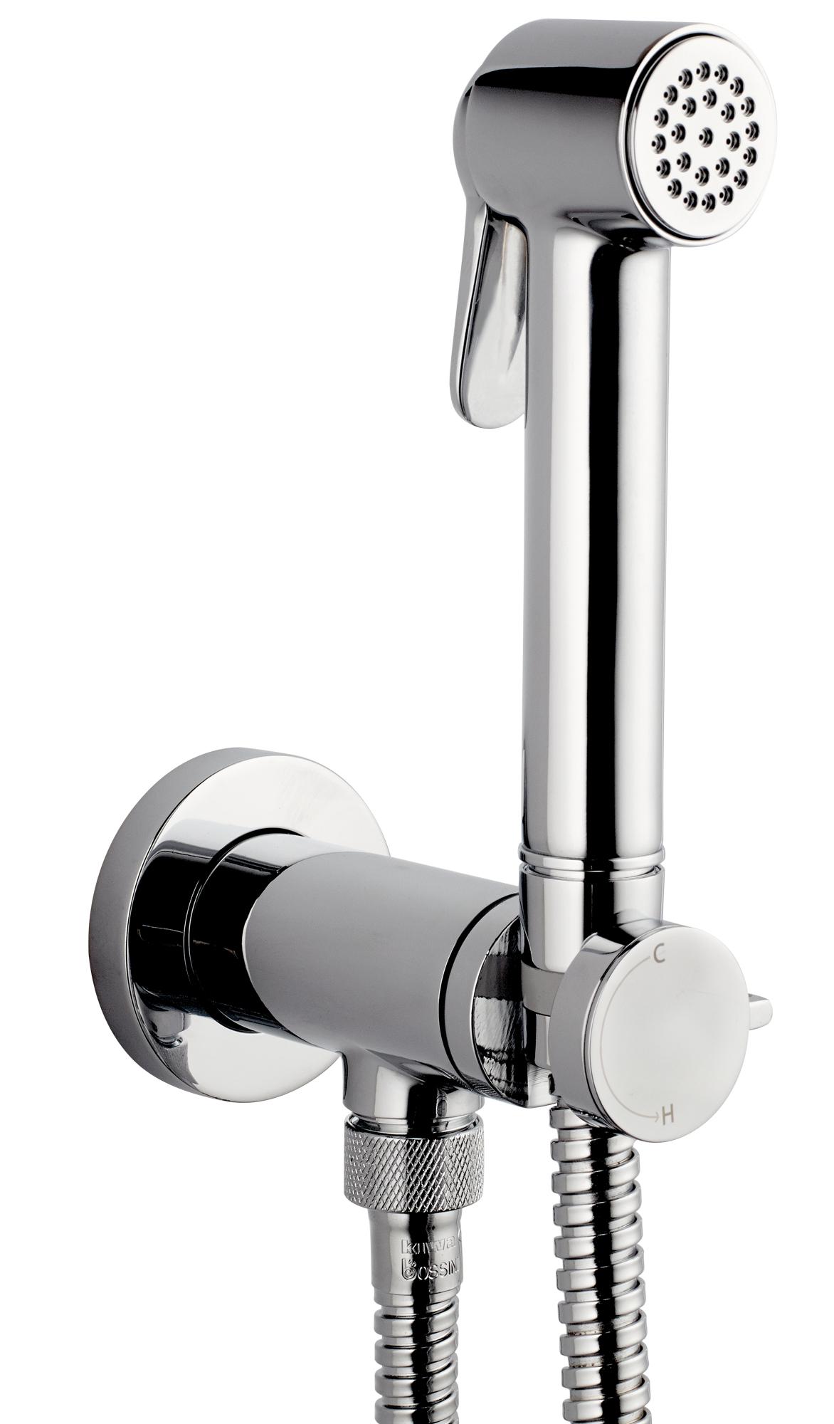 Гигиенический смеситель Bossini Paloma Brass Mixer Set E37005.030, хром