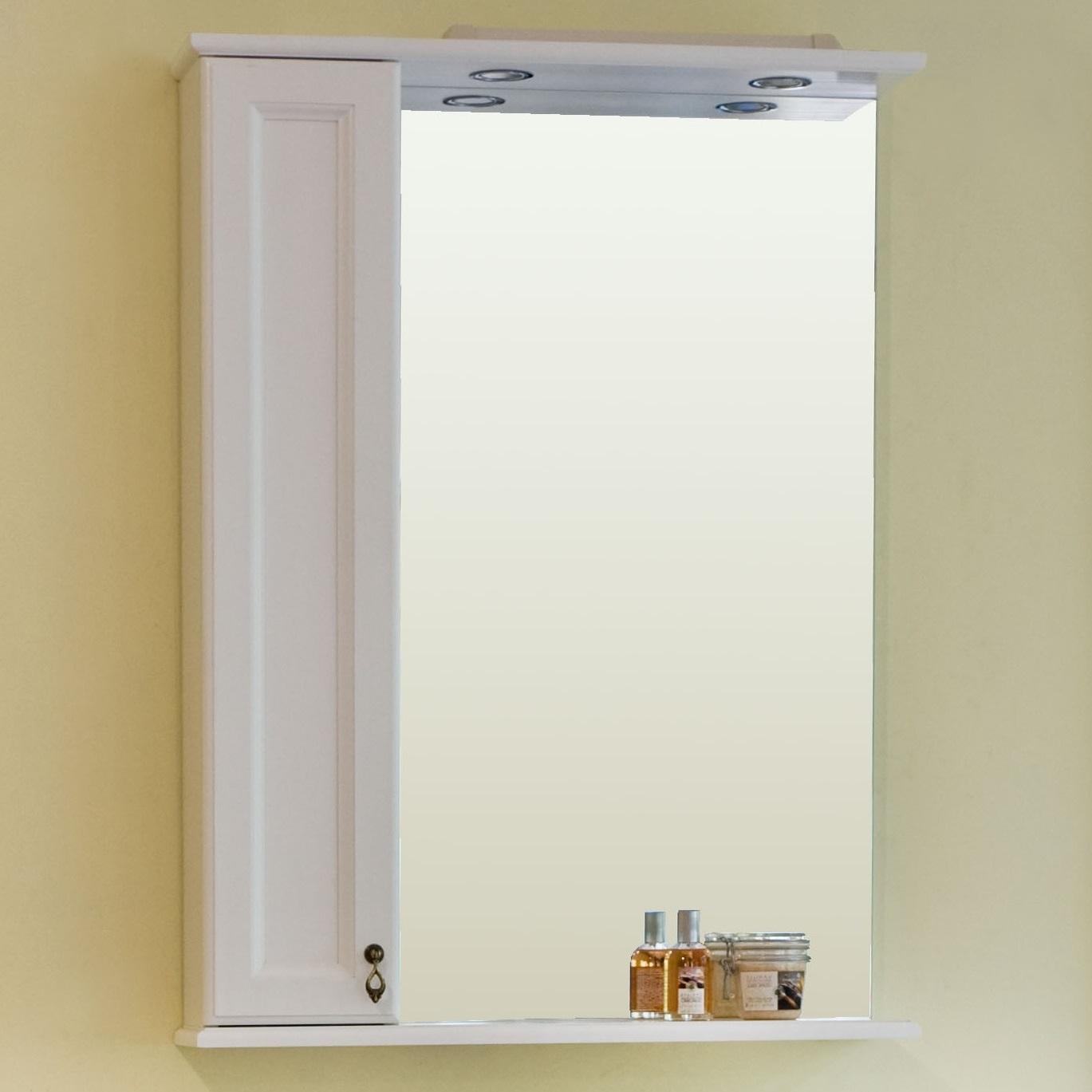 Зеркало Аллигатор МИЛАНА 2-75R/L, с подсветкой и шкафчиком, 75*18*99,5 см
