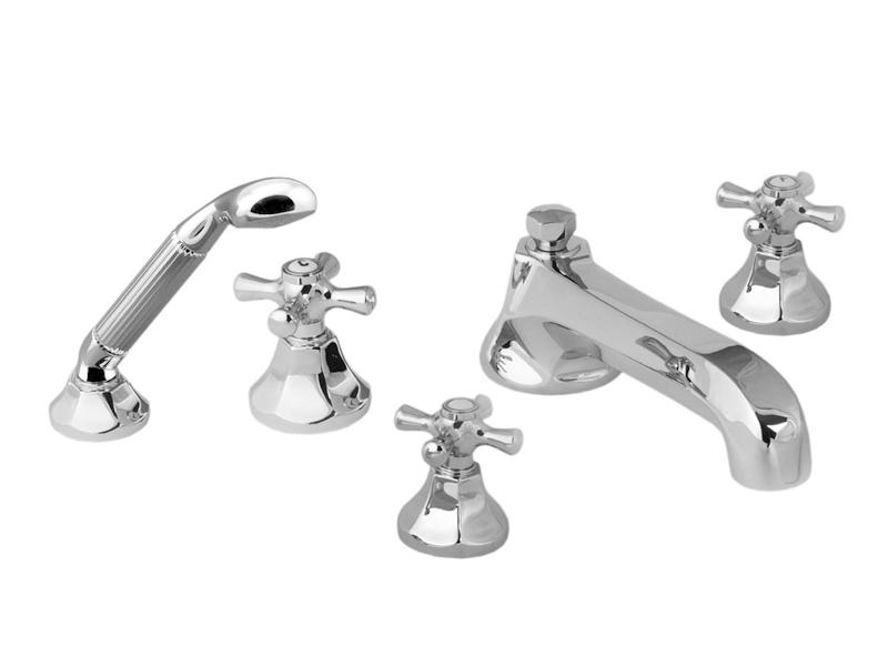 Смеситель для ванны и душа Cristal-et-Bronze Charlety, арт. 25805-84, на 5 отверстий