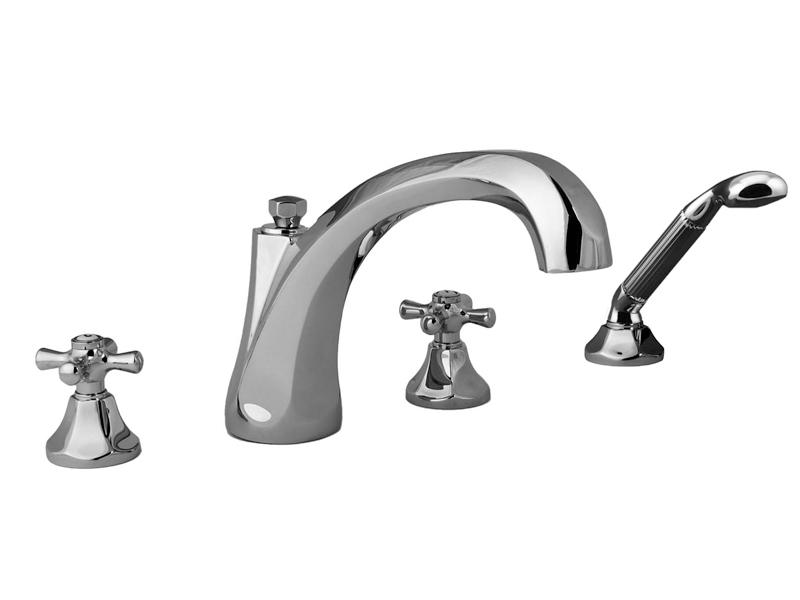 """Смеситель для ванны и душа Cristal-et-Bronze Charlety, арт. 25808-84, на 4 отверстия """"гигант"""""""