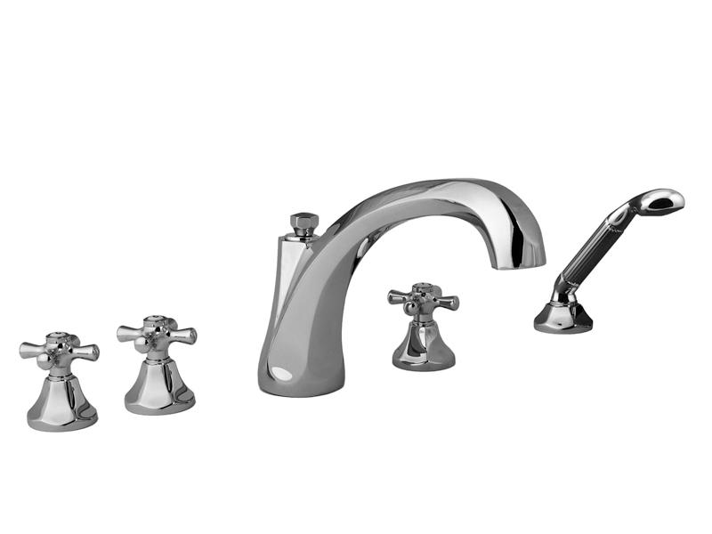 """Смеситель для ванны и душа Cristal-et-Bronze Charlety, арт. 25809-84, на 5 отверстий """"гигант"""""""
