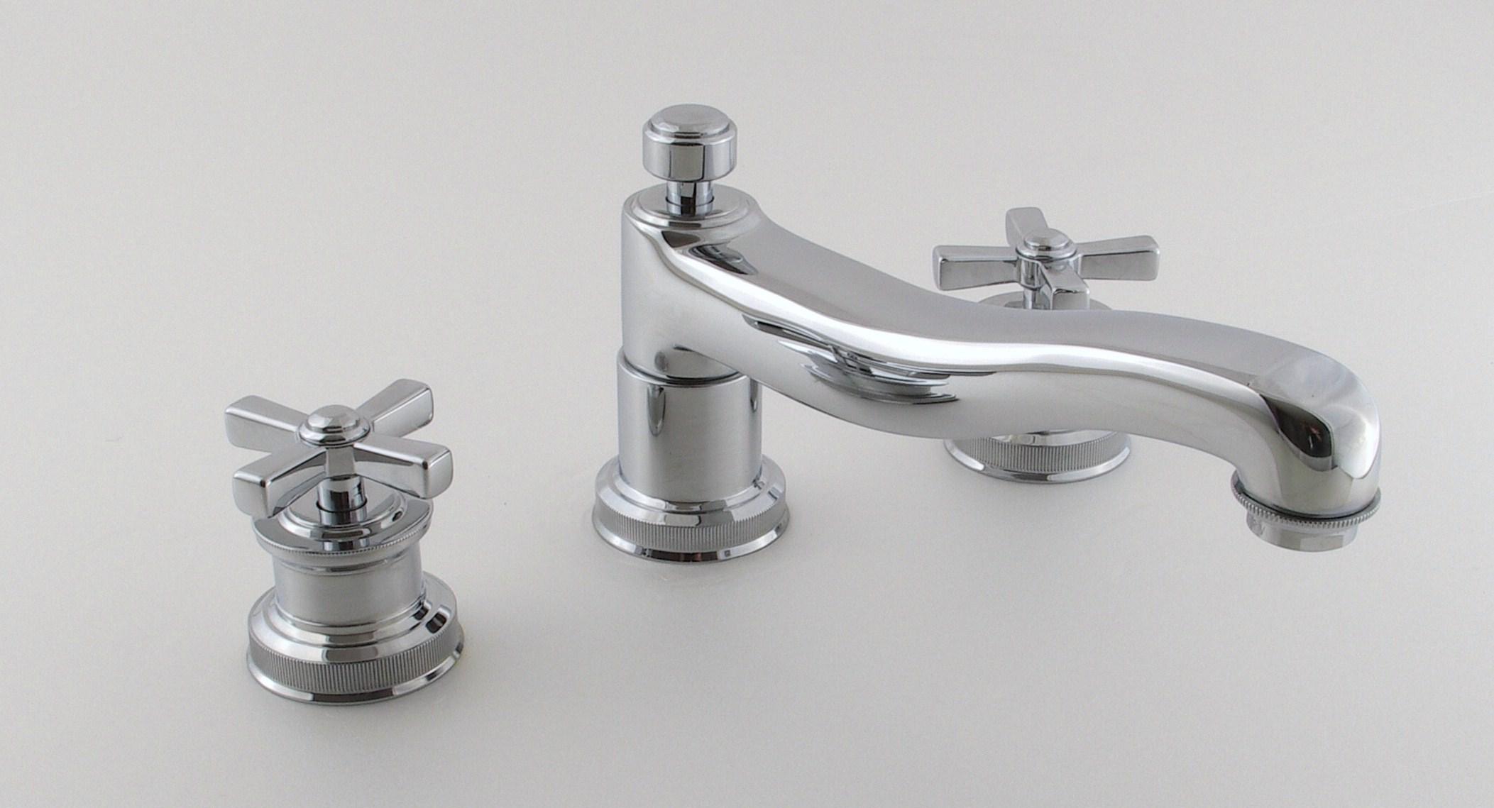 Смеситель для ванны Cristal-et-Bronze City , арт. 25643-94, на 3 отверстия монтаж бортике ванны