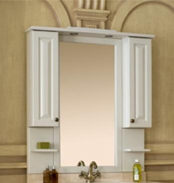 Зеркало с подсветкой Аллигатор CAPAN 120A(D), с двумя шкафчиками, 120*17*115 см