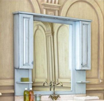 Зеркало с подсветкой Аллигатор CAPAN 140E(D), с двумя шкафчиками, 140*17*115 см