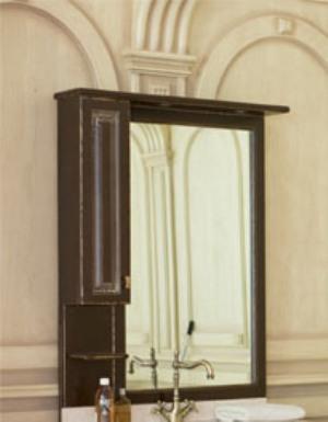 Зеркало с подсветкой Аллигатор CAPAN 90F(D), с одним шкафчиком, 90*17*115 см