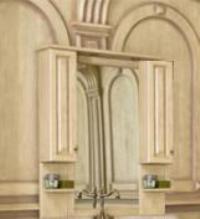 Зеркало с подсветкой Аллигатор CAPAN 100G(D), с двумя шкафчиками, 100*17*115 см