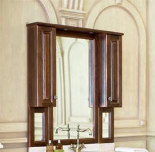Зеркало с подсветкой Аллигатор CAPAN 110K(D), с двумя шкафчиками, 110*17*115 см