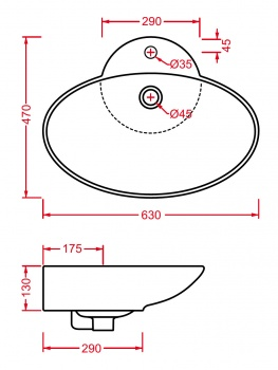 Раковина ArtCeram FUORI 3 TFL004 01;00
