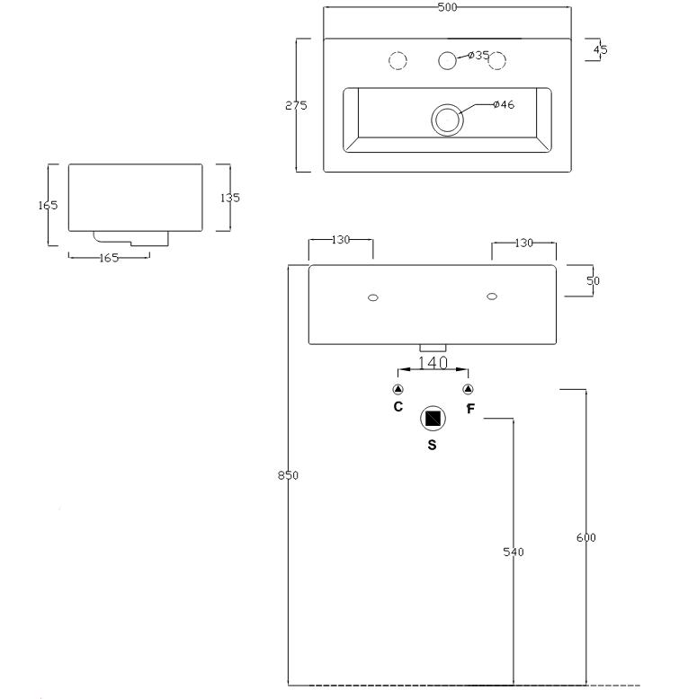 Раковина ArtCeram FUORI BOX 27 TFL020 01;00 подвесная/накладная